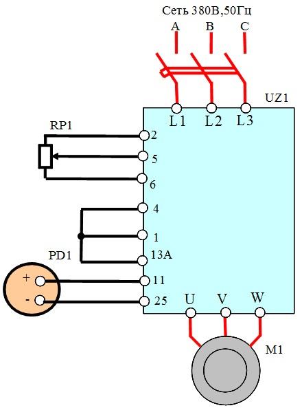 PR1 –задающий потенциометр