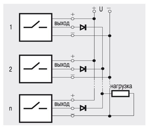 Схема собрана из выключателей